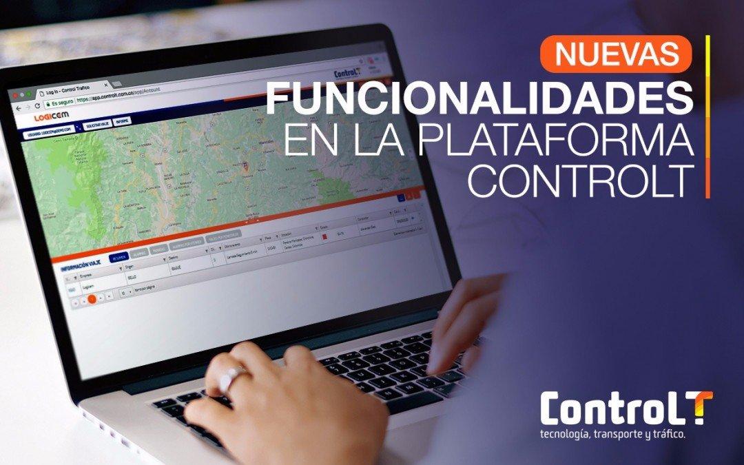 Nuevas funcionalidades en ControlT