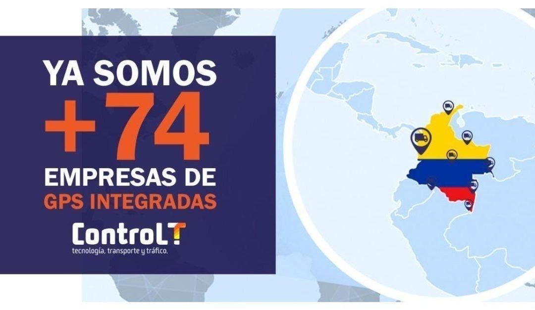 Integración con empresas de GPS | +74 Empresas integradas