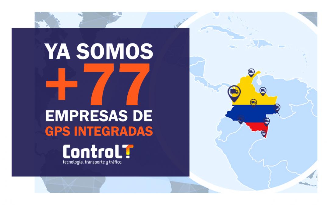 Integración con empresas de GPS | +77 Empresas integradas