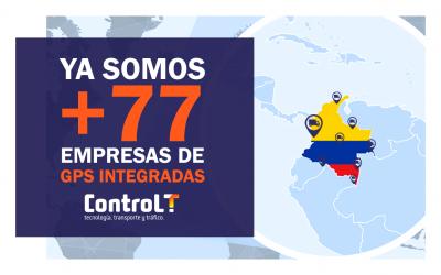 Integración con empresas de GPS   +77 Empresas integradas